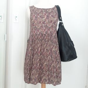 Vintage 90s Babydoll Micro Floral Dress Sz Small